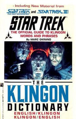 The Klingon Dictionary - Second edition cover