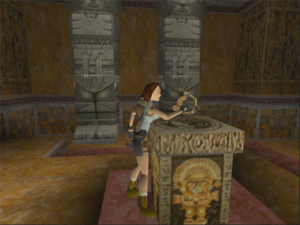 Tomb Raider (1996 video game) - In Tomb Raider, Lara Croft hunts for pieces of a talisman called the Scion, the first of which is found in the Tomb of Qualopec in Peru.