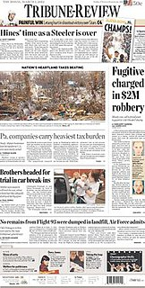<i>Pittsburgh Tribune-Review</i> newspaper in Pittsburgh, Pennsylvania