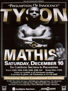 Mike Tyson vs. Buster Mathis Jr. Boxing competition