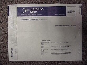 Tyvek - Tyvek USPS Express Mail envelope