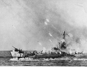 USS LSM(R)-197 - Image: US LSRM 197