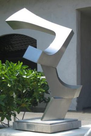 James Rosati - Untitled (Three Forms), stainless steel sculpture by James Rosati, 1975-1976, Honolulu Museum of Art