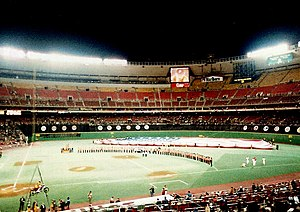 1986 Philadelphia Phillies season - Veterans Stadium on Phillies Opening Night, April 11, 1986.