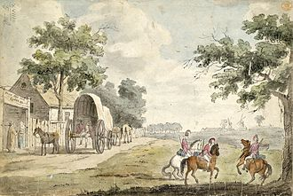 Hare and Billet - The Hare and Billet in 1780 when it was painted by Thomas Luny