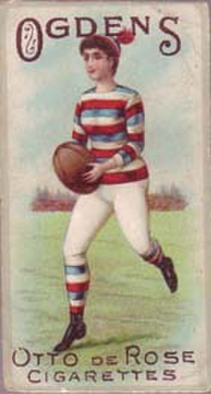 Women's rugby union - Cigarette card, 1895.