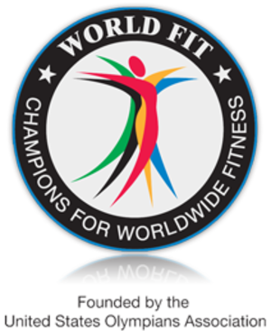 World Fit - Image: World Fit logo childhood obesity programs kids fitness programs school fitness programs