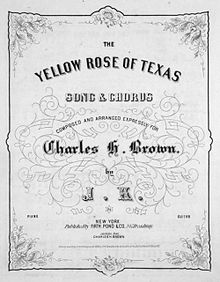 The Yellow Rose of Texas (song) - Wikipedia