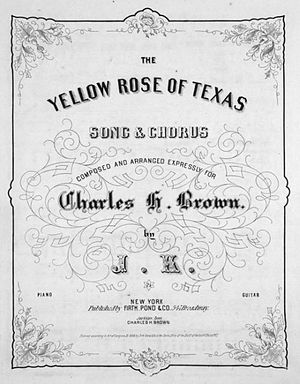The Yellow Rose of Texas (song) - Image: Yellow Rose Of Texas 1858
