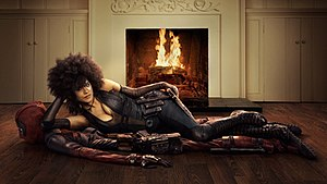 Domino (comics) - Zazie Beetz as Domino in a promotional image for Deadpool 2