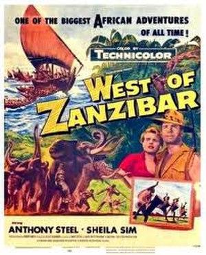 West of Zanzibar (1954 film) - U.S. theatrical poster