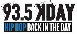 KDAY - Image: 93.5 KDAY Hip Hop Back In The Day logo