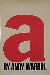 <i>a, A Novel</i> book by Andy Warhol