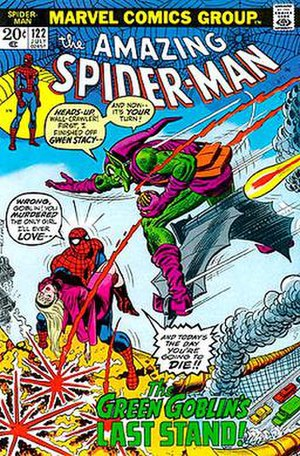 The Night Gwen Stacy Died - Image: Amazing Spider Man 122