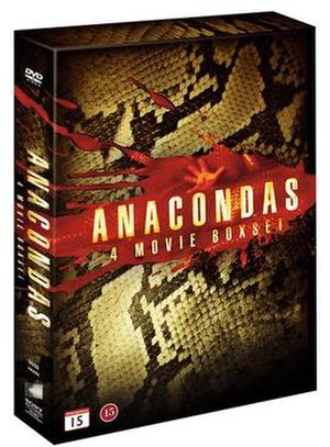 Anaconda (film series) - DVD box containing the first four films.