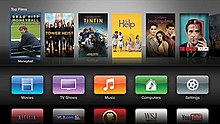 The third Apple TV interface