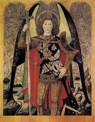 Jaume Huguet - Archangel Michael, 1456
