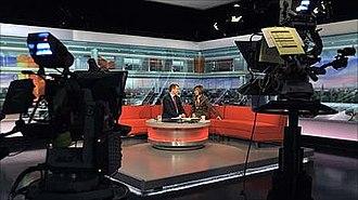 BBC Breakfast - BBC Breakfast set in 2010 with Bill Turnbull and Sian Williams