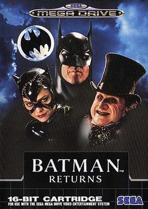 Batman Returns (video game) - Cover of the Mega Drive version