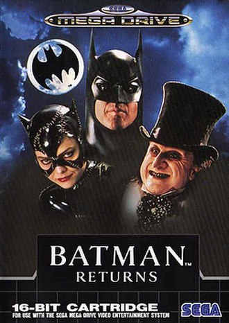 Batman Returns (video game) - Mega Drive cover