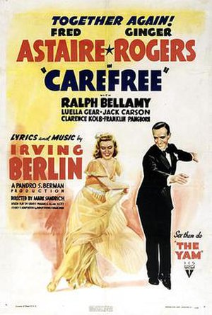 Carefree (film) - theatrical release poster