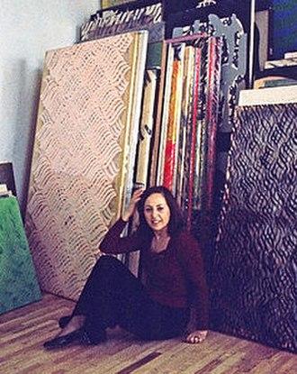 Carla Accardi - Carla Accardi in her studio in Rome, 1976