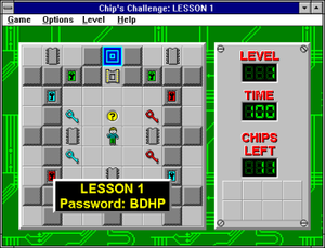 Chip's Challenge - Screenshot of the Windows version