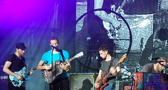 Coldplay - Coldplay playing at MuchMusic in Toronto, September 2011.