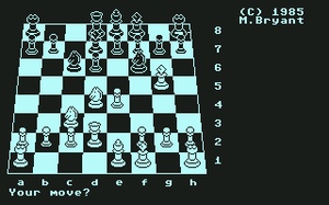 Colossus Chess - Colossus Chess 4.0 on Commodore 64 (3D chessboard)
