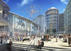 Ruskin Square - An artist's impression of the failed Croydon Arena in the arrowcroft scheme