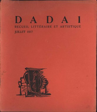 Dada - Cover of the first edition of the publication Dada by Tristan Tzara; Zürich, 1917
