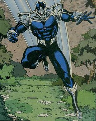 Darkhawk - Darkhawk's second android body. Art by Ron Lim.