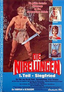 <i>Die Nibelungen</i> (1966–67 film) 1966/1967 West German fantasy film released in two parts directed by Harald Reinl