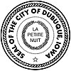 Official seal of Dubuque, Iowa