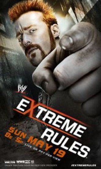 Extreme Rules (2013) - Promotional poster featuring Sheamus