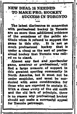 1916–17 NHA season - The Globe was not amused about the 228th in this editorial of February 21, 1917.