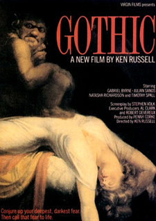 Image result for GOTHIC ( 1986 ) POSTER