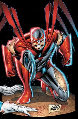 Hank Hall - Hank Hall as Hawk; art by Rob Liefeld.