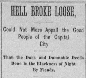 Servant Girl Annihilator - December 1885 newspaper headline relating to the Servant Girl Annihilator