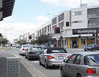 Gungahlin - View of Hibberson Street looking east.