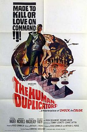 The Human Duplicators - Poster for the film