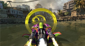 Hydro Thunder Hurricane - Hydro Thunder Hurricane includes game modes new to the Thunder series, including Ring Master, where the player must navigate through a set of rings on the course as fast as possible.