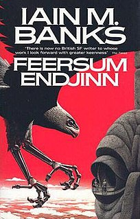 <i>Feersum Endjinn</i> science fiction novel by Iain M. Banks