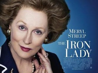 The Iron Lady (film) - British theatrical release poster