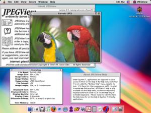 JPEGView - Image: JPEG View version 3.3.1 running on Mac OS X Classic Environment