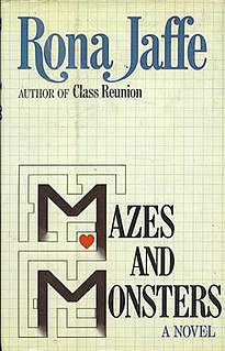 <i>Mazes and Monsters</i> (novel) book by Rona Jaffe