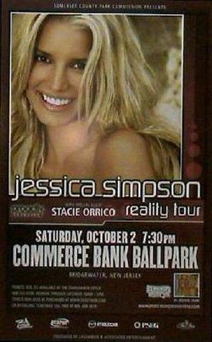 Reality Tour (Jessica Simpson) - Image: Jsimpson concertposter