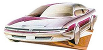Lexus LS - An early Lexus LS design sketch