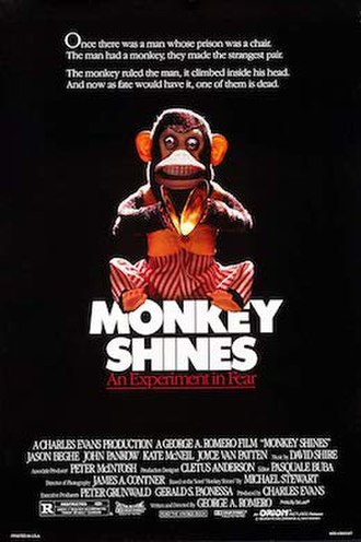 Monkey Shines - Theatrical release poster