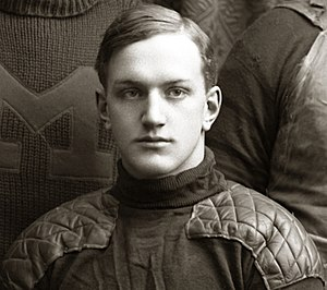Neil Snow - Snow in 1900 (from Michigan football team photograph)